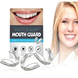 Mouth Guard for Grinding Teeth - Night Guard for Clenching - Eliminates TMJ and Bruxism! Includes Three Custom Fit Professional Dental Guards