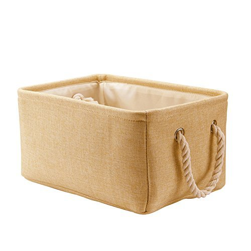 Storage Basket Baby Laundry Basket Toys Box Closet Organizer with Handles,14.2 X 10.2 X 6.3 inch