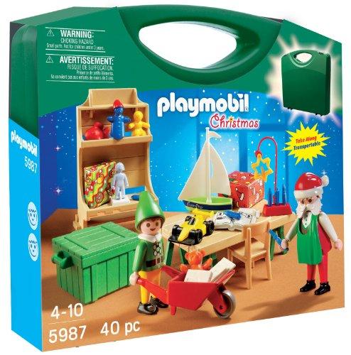 PLAYMOBIL Santa's Workshop Carrying Case Playset -