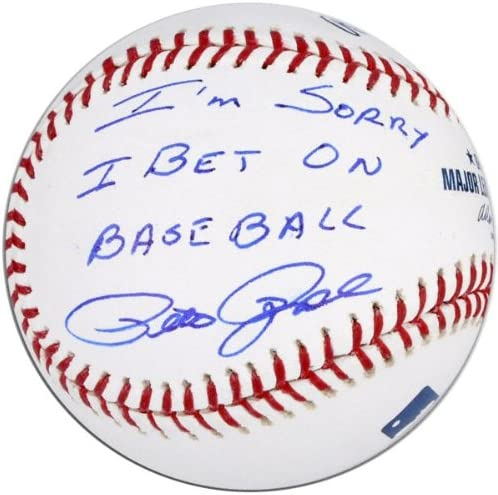 Pete rose signed baseball sorry i bet on baseball european cup club friendlys predictions today/betting