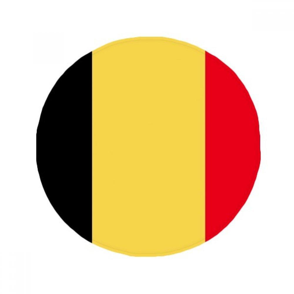 60X60cm DIYthinker Belgium National Flag Europe Country Anti-Slip Floor Pet Mat Round Bathroom Living Room Kitchen Door 60 50Cm Gift