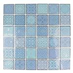 Artemio foglio mosaico blu autoadesive, Multicolore, 30quadretti di 4x 4cm