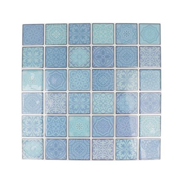 Artemio-foglio-mosaico-blu-autoadesive-Multicolore-30-quadretti-di-4-x-4-cm