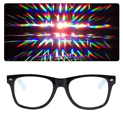 EmazingLights Diffraction Prism Rave Glasses (Black)