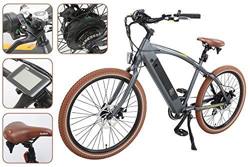 ONWAY 36v Ebike 26 Inch 500w Fat Beach Electric Cruiser Bike with LCD Display for Men