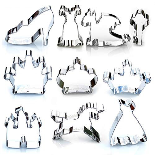 Princess Kingdom Cookie Cutter Set - 10 Piece Stainless Steel -