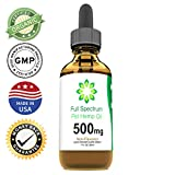 Full Spectrum Ultra Premium Hemp Extract for Dogs & Cats Hemp Oil - 500mg (1oz) - Grown & Made in USA - All Natural Pain Relief for Pets, Stress & Anxiety Support, Calming, Hip & Joint Health