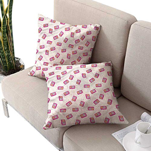 Pillowcase Standard Barry - cobeDecor Radio Square Pillowcases Vintage Device with Antenna Cushion Case for Sofa,Bed 18