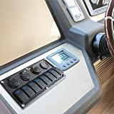 8 Gang Waterproof Rocker Switch Panel - 12V/24V