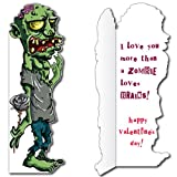 """5'8"""" Zombie Card W/Envelope (Valentine's) - Life-Size Greeting Card"""