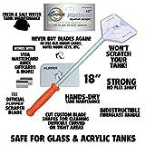 FL!PPER Platinum Aquarium Hand Scraper for Glass