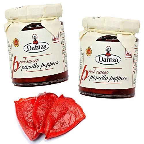 Dantza Red Piquillo Sweet Pepper - 2 Jars x 7.7 oz - DOP Navarre Kosher from Spain