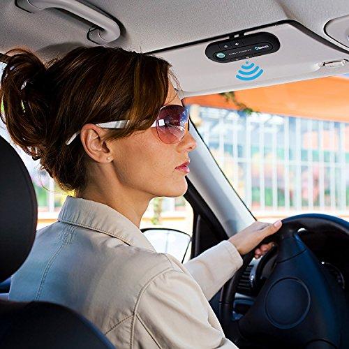 Bluetooth Visor Speakerphone Bluetooth Car Speaker Hands free Kit for Smart Phone, iPhone and iPad (Black) by BTBSZ (Image #2)
