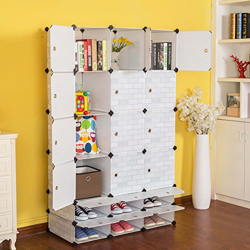 c ahome 18 cubes clothes closet wardrobe armoire. Black Bedroom Furniture Sets. Home Design Ideas
