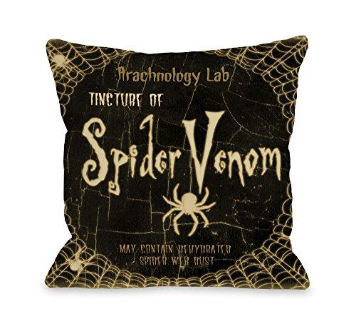 One Bella Casa Spider Venom Halloween Throw Pillow
