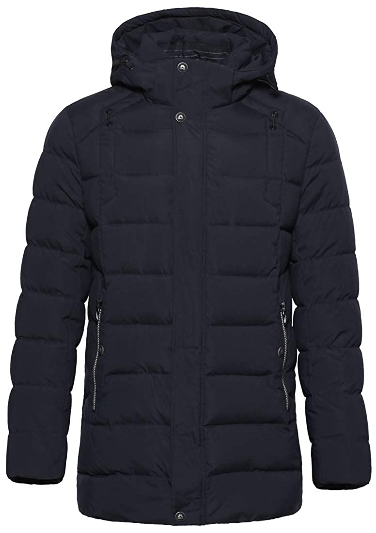 ICEbear Men's Down Coat Winter Puffer Jacket Windproof Quilted Down Parka with Hood MWD18813D