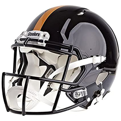 1ca999276ab Amazon.com   Pittsburgh Steelers Officially Licensed Speed Authentic Football  Helmet   Sports   Outdoors