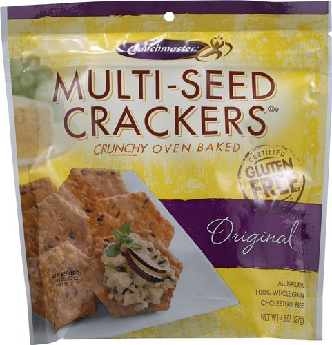 Crunch Master Multi-Seed Crackers Gluten Free Original -- 4.5 oz (Crunch Master Multi Seed)