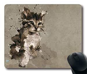 Cat painting Rectangle Mouse Pad by LZHCASE