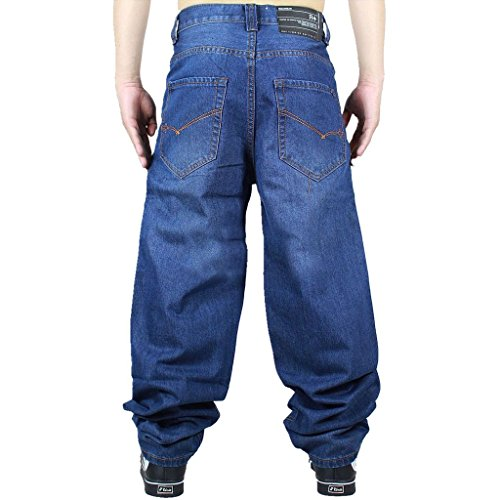 Hatton Man's Hip Hop Casual Jeans US42 Dark Blue