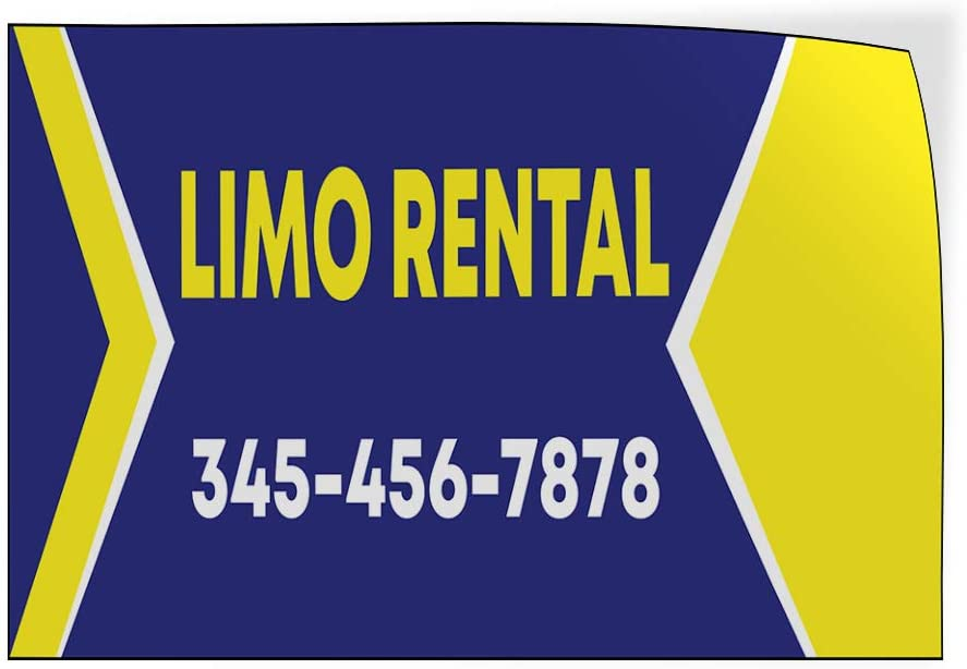 Custom Door Decals Vinyl Stickers Multiple Sizes Limo Rental Phone Number Blue Business Limo Rental Outdoor Luggage /& Bumper Stickers for Cars Blue 54X36Inches Set of 5