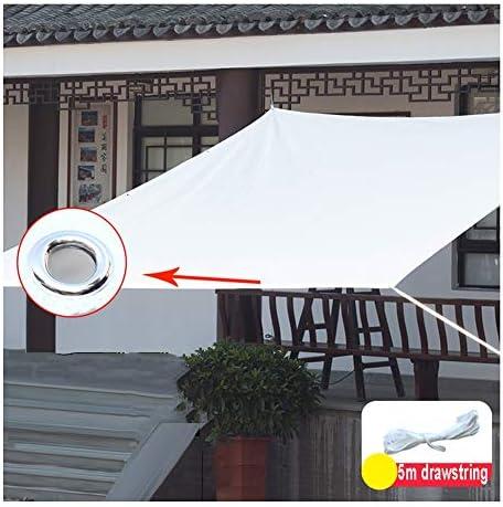 KKCF オーニング シェード遮光ネット、アンチUV シェーディング 防水 銅バックル バルコニー アウトドア HDPE、白、カスタマイズ可能 サイズ (Color : White, Size : 2x5m)