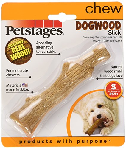 Dogwood Durable Real Wood Dog Chew Toy for Small Dogs, Safe and Durable Chew Toy by Petstages, Small