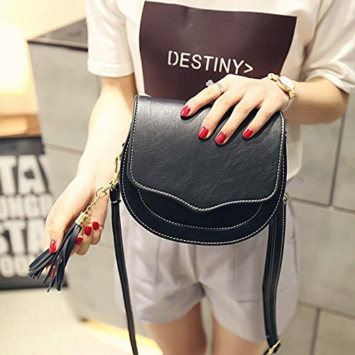 PU messenger bag Sac Avec noir Petite Bandoulière mini Crossbody embragues mode Cute Simple espeedy femmes À Leather 4tq8A8