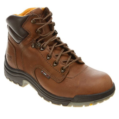 055398210 Timberland PRO Women's TiTAN Work Boots - Coffee Coffee Full-grain