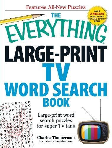 The Everything Large-Print TV Word Search Book: Large-print word ...