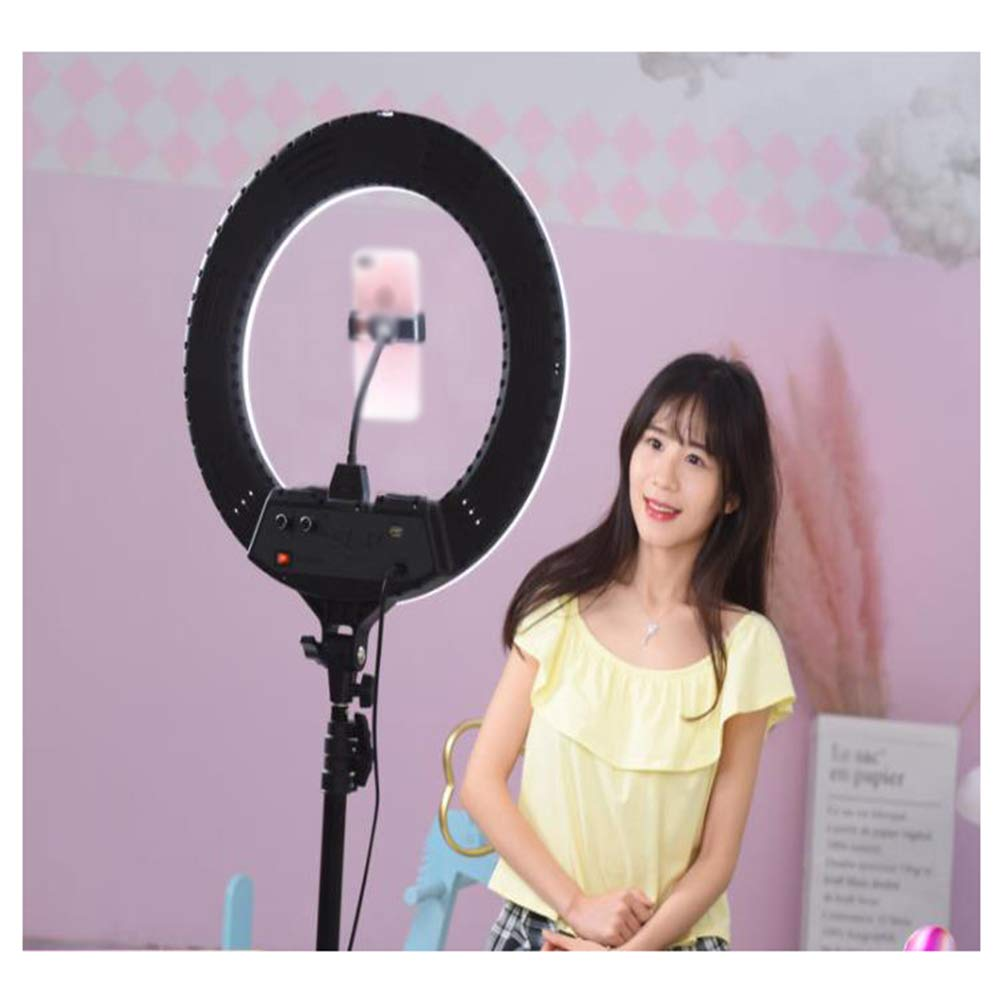 WYQSZ LED Selfie Ring Light with Tripod Stand 17.7 Inch for Live Stream/Makeup, Led Camera Ringlight for Compatible with Most of Smart Phones. by WYQSZ