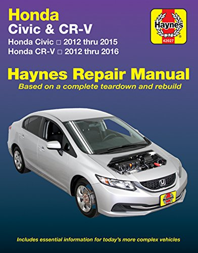 amazon com honda civic cr v haynes repair manual 2012 2016 rh amazon com honda civic 2012 body repair manual 2014 honda civic repair manual