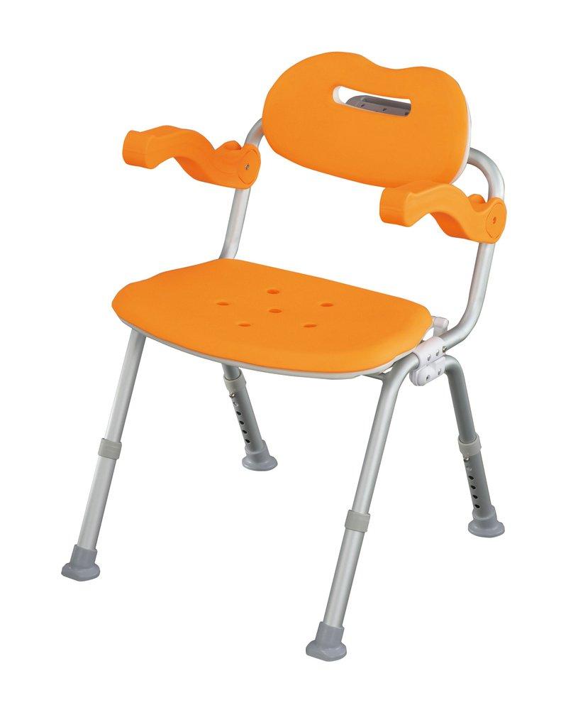 パナソニック シャワーチェアー サポートタイプ角型ワンタッチ おりたたみ オレンジ VAL41502D B003H6EC5I  オレンジ ワンタッチあり