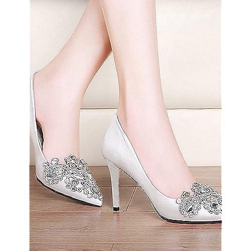 Ggx femme Chaussures Paillettes Printemps été automne hiver talons Mariage  fête f64f0f36843c