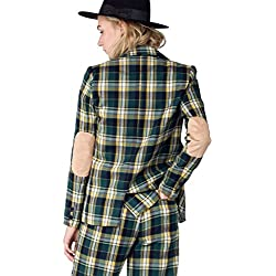 The Styles Plaid Casual Blazer, Green-Yellow, Small