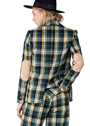 The+Styles+Plaid+Casual+Blazer%2C+Green-Yellow%2C+X-Large
