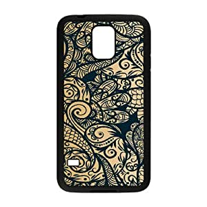 Gold Pattern ZLB565216 Brand New Case for SamSung Galaxy S5 I9600, SamSung Galaxy S5 I9600 Case