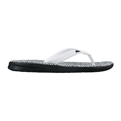 finest selection 66131 0922a Nike WMNS SOLAY Thong Print, Mules Femme, Multicolore Blanc Noir, 35.5 EU