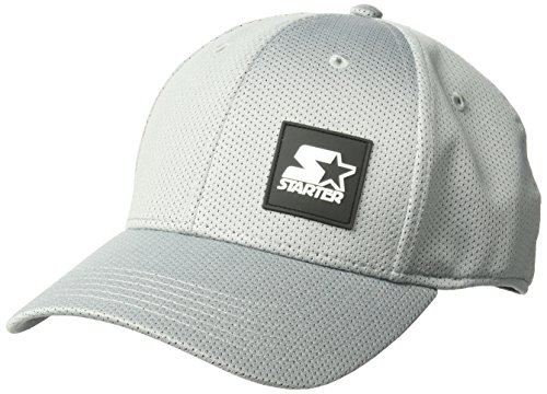 Starter Men's Fitted Cap with Wicking and Built-in Headband, Amazon Exclusive, Vapor Grey, Small/Medium