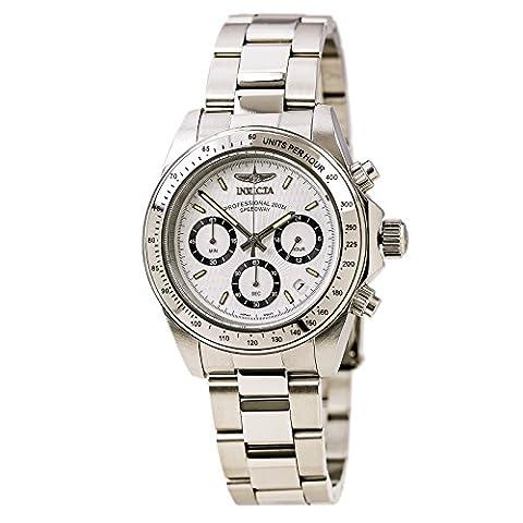 Invicta Men's 7025 Signature Quartz Chronograph White Dial Watch - Chronograph White Dial