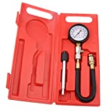 MagiDeal Compression Tester Kit , Car Motorbike Engine 13'' Flex Hose Cylinder Compression Pressure Gauge Tester with Cone Adapter Set 0-300psi