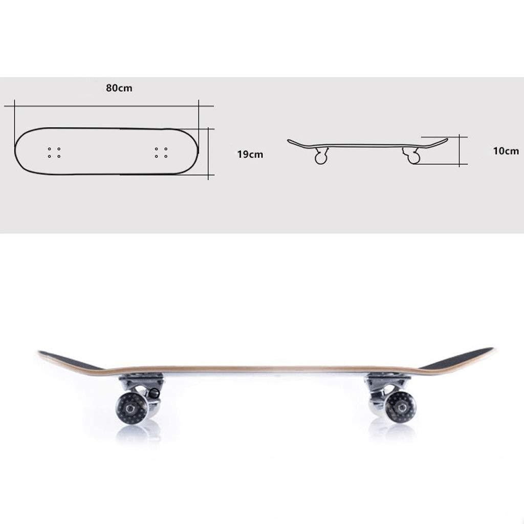 Der Geschmack von zu zu zu Hause Erwachsenes Bürsten-Straßen-Reise-Skateboard-Anfänger-Skateboard Professionelles bilaterales geneigtes Brett-Skateboard Skateboard mit Vier Rädern (Farbe   F) B07Q1Y11N3 Skateboards Schön und charmant 0d0d18