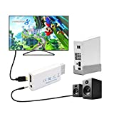 KCOOL Wii to HDMI Converter Output Video Audio Adapter - Supports All Wii Display Modes (NTSC 480I, 480P,PAL 576I), Best Compatibility and Stability