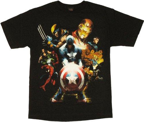 - Marvel Team-Ups Men's Team Ups Soldiers Revenge T-Shirt, Black, X-Large