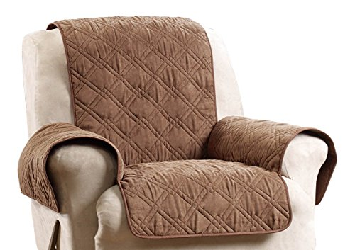 Sure Fit SF45037 Deluxe Non Skid Waterproof Pet Recliner Furniture Cover - Brown