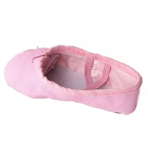 KINDOYO Zapatillas de Ballet Canvas Dance Zapatos para Niña Mujer (Rosa)