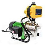 1.6HP JET WATER PUPM Pressure Booster Water Jet Stainless Pump Self-Priming By Allgoodsdelight365