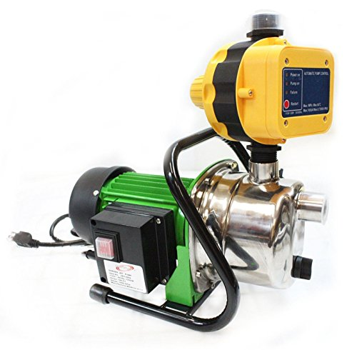 1.6HP JET WATER PUPM Pressure Booster Water Jet Stainless Pump Self-Priming By Allgoodsdelight365 by allgoodsdelight365