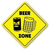 [SignJoker] BEER ZONE Sign novelty signs mug glass neon tap keg Wall Plaque Decoration
