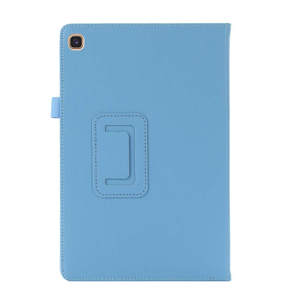 En Cuir PU Flip /étui pour Samsung Galaxy Tab A 10.1 2019 SM-T510 T515 bleu fonc/é